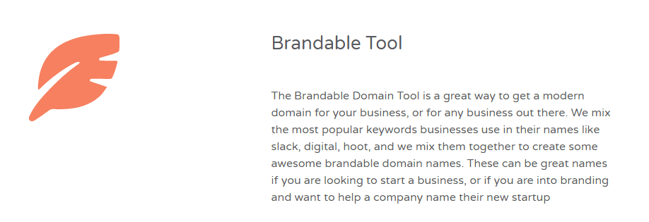 flamedomain review - brandable tool