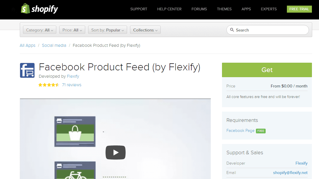must have shopify apps - Facebook Product Feed by Felxify