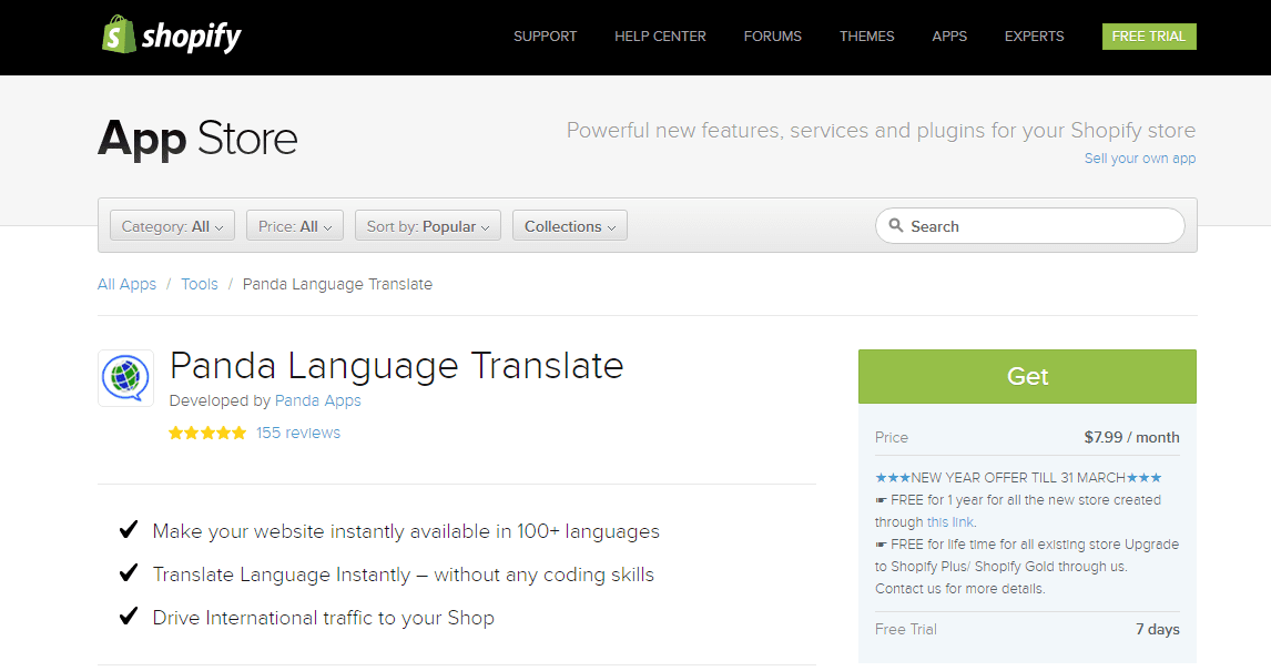 must have shopify apps - Panda Language Translate