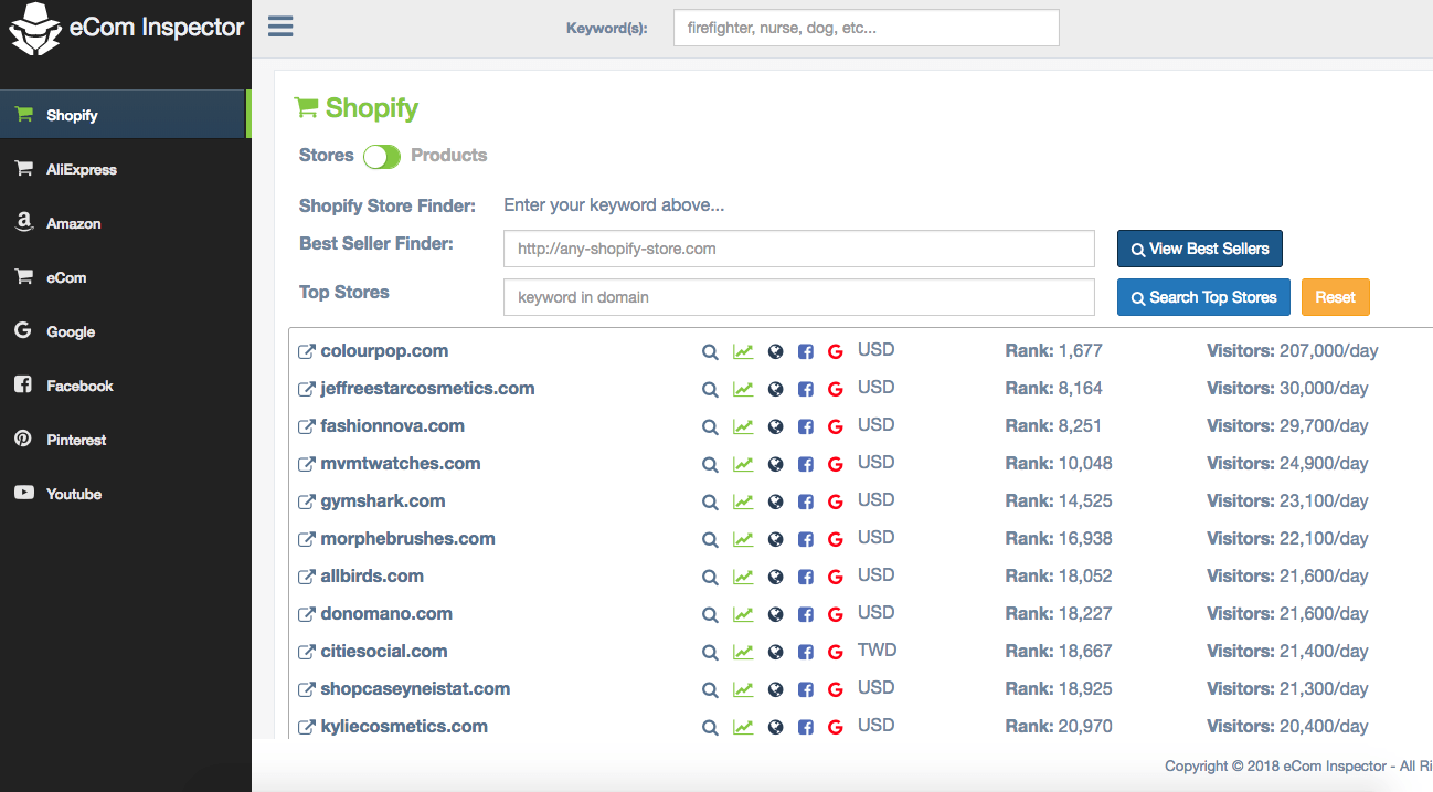 Ecom Inspector - Shopify Product Research