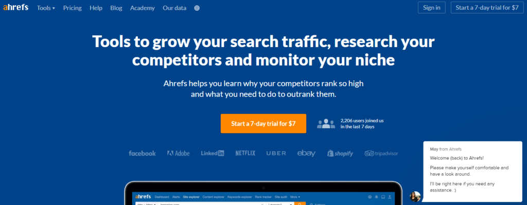 Ahref keyword research tool