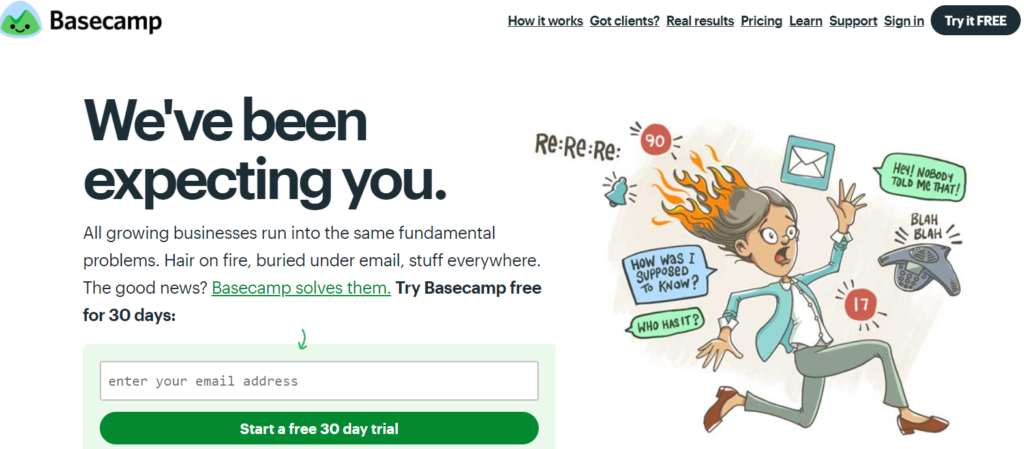 basecamp content marketing tools