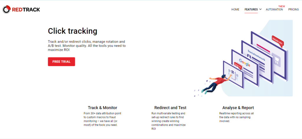 RedTrack click Tracking