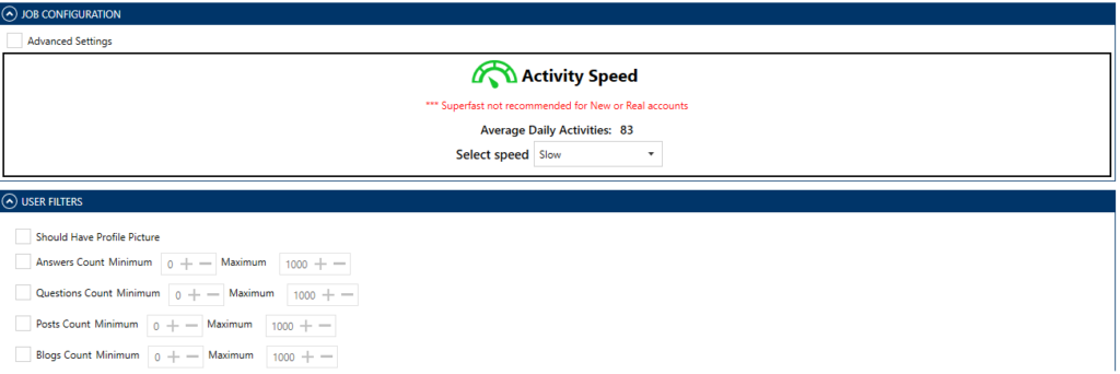 Activity Speed - Quora