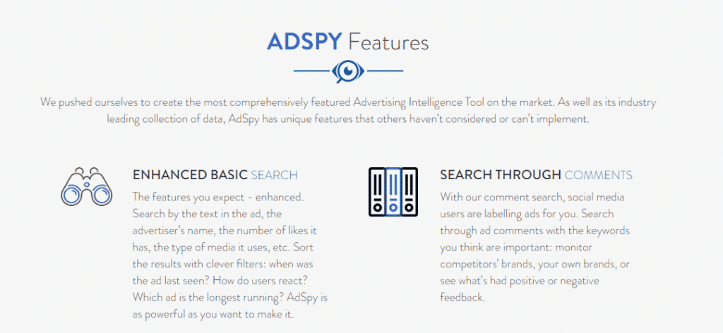 AdSpy Features